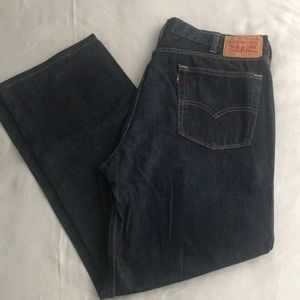 Levi's 514 Men's W 40 L 32 Dark Blue Jeans